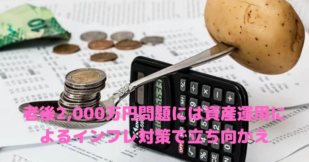 老後2000万円問題,インフレ,資産運用