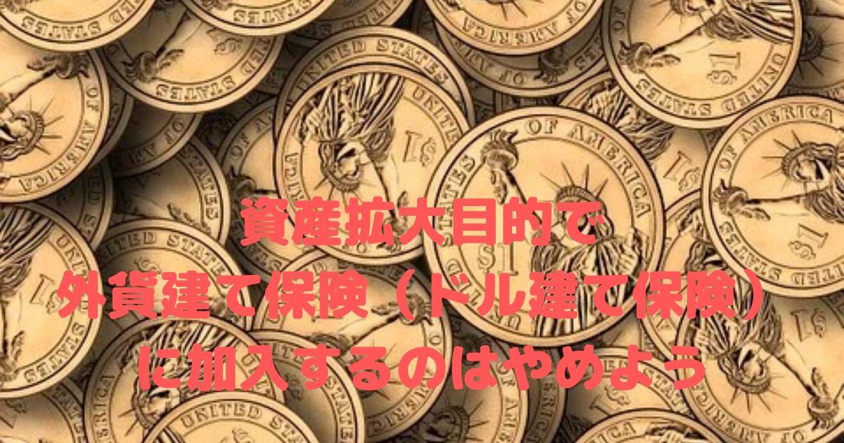外貨建て保険(ドル建て保険)